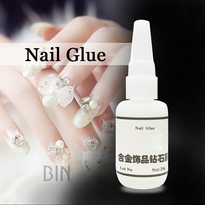 2018 Bin By-ng-20 Beauty Salon Tool Supplies 20g Non Toxic Nail Glue ...