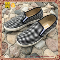 long fashion simple pattern canvas shoes for men casual slip on shoes