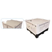 Plastic 4 way entry bulk containers for the fruit industry