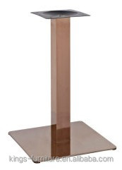Square Rose Gold Restaurant Table Leg /Stainless Steel Dining Table Base