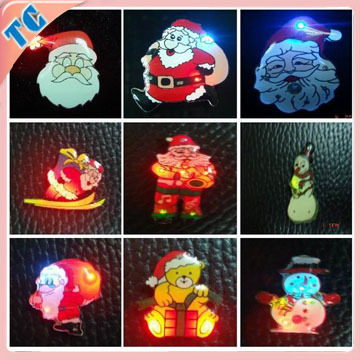 Christmas promotion products badge clip safety pin