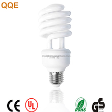 Half spiral shape CFLfluorescent energy saving lamp e27 26w with CE ROHS certificate