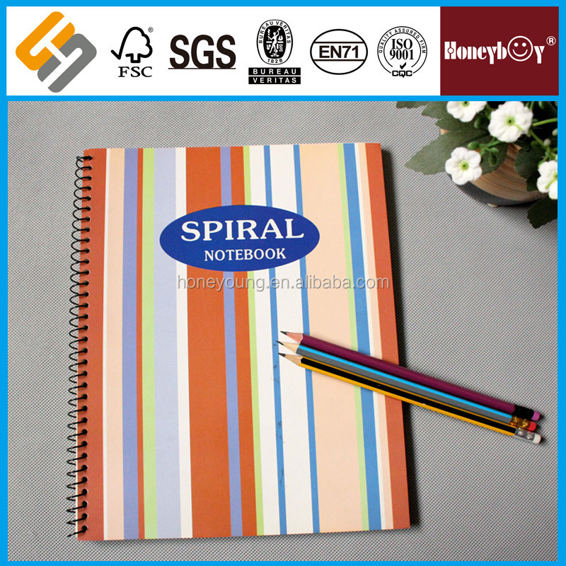 A3/A4/A5 paper/pp cover decorative cheap a5 spiral notebook for school