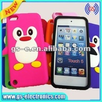 Animal silicon phone case for iPod touch 5 silicone penguin case