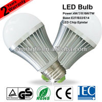 4W 5W 6W 7W TUV CE RoHS IEC Approved LED Light Bulb Advantages And Disadvantages