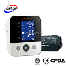 Home Use Automatic Digital blood pressure monitor upper arm Blood Pressure Monitor & Heart Beat Meter With Lcd Display CE