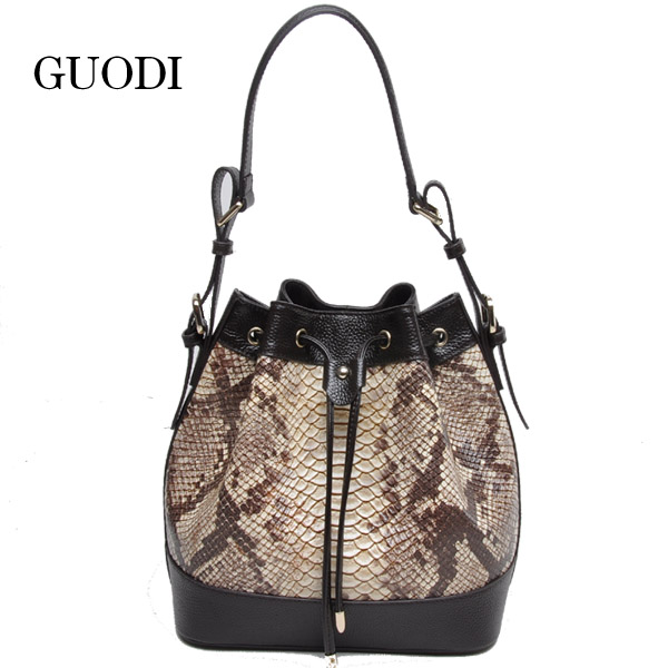 2016 hot sell fashion snake skin designer bags for ladies