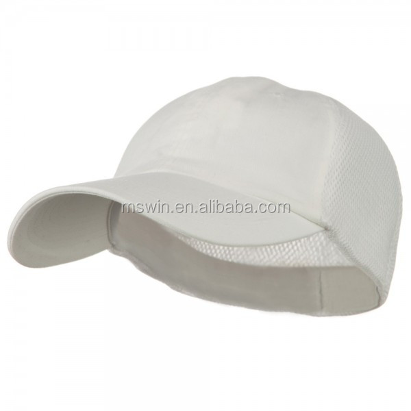 6 panel mesh back fitted baseball caps men