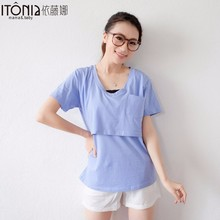 wholesale maternity clothing lift up breastfeeding clothes TD022