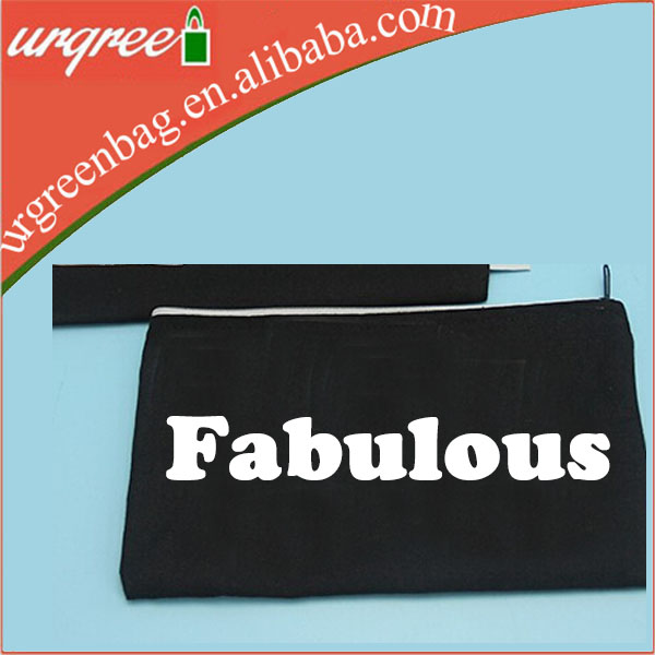 Cloth canvas make up cosmetic zipper pouch bag