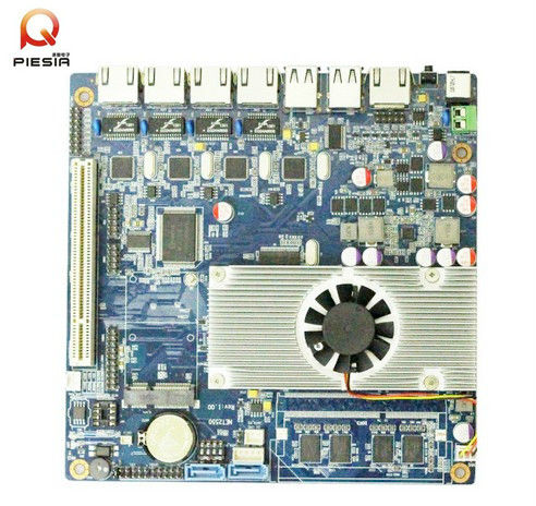 4 port poe nic motherboard Embedded mini itx mainboard with 4 Nerwork cards,dc 12V industrial SBC for Network Security,Server