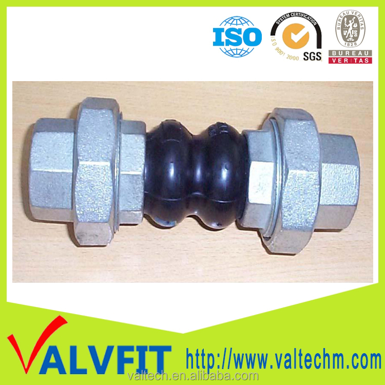 Double sphere galvanized rubber expansion joint