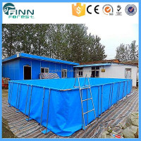 Wholesale Price Outdoor Folding Plastic Frame Rubber Swimming Pool