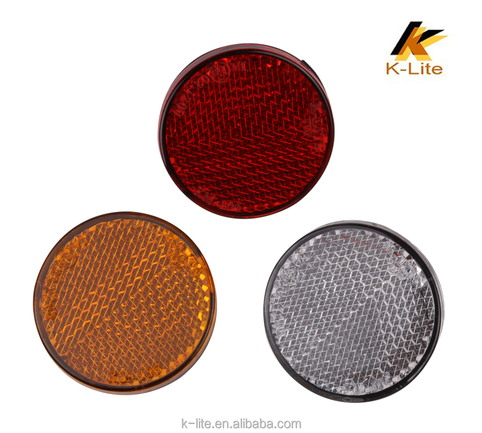 Rear reflector for motorcycles , adhesive rear reflector for bike KM106