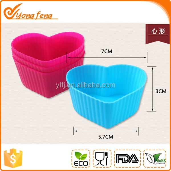 funny heart shape silicone custom-made cake mold