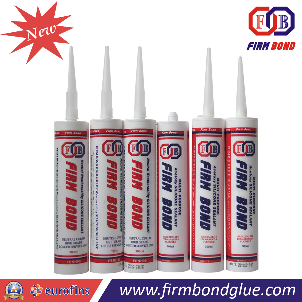 300ml Glass And Aluminum Grey Silicone Sealant Mastic