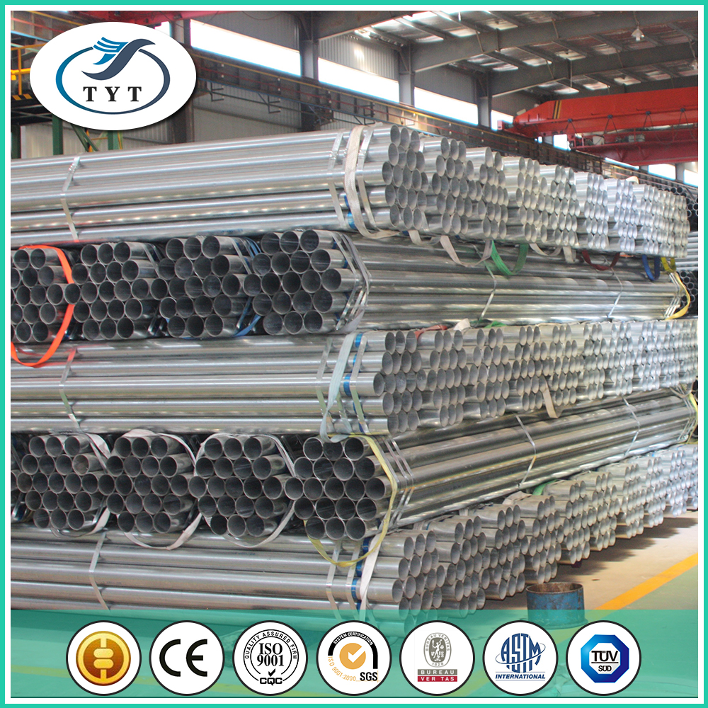 Fast Delivery Widely Used 25mm Galvanized Erw Steel Pipe For Gas And Oil Project