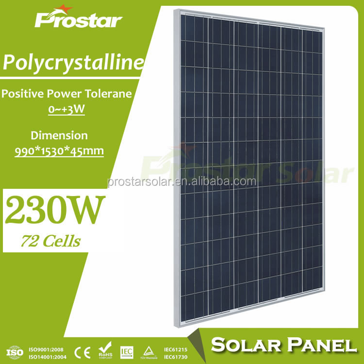 Prostar best price poly and mono solar panel 230w 255w 260w 265w in penang malaysia/myanmar
