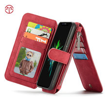 Best Quality Metal Zipper Leather Wallet Case for iPhone X, Hard Back Case for iPhone x, for iPhone 8 Cover Case