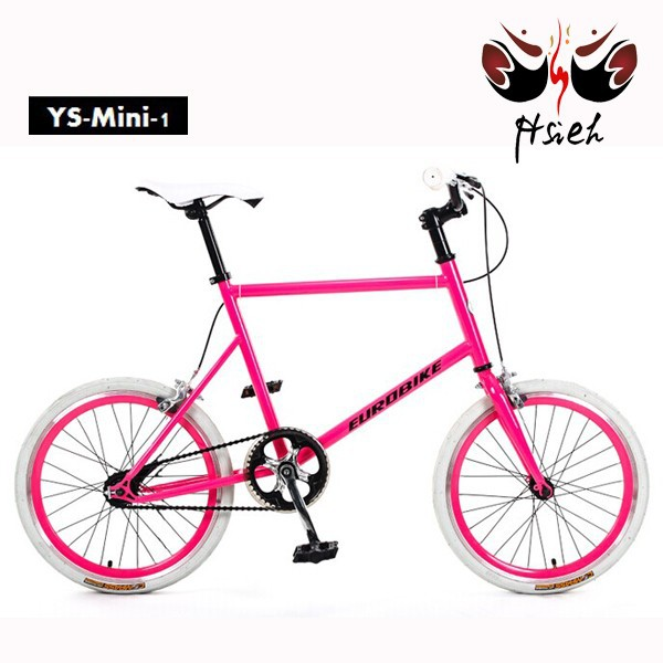 20 inch single speed fixed gear bike good looking girl red bicycle