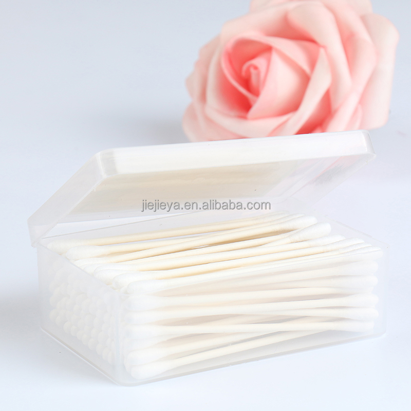 50pcs Square box packing thin stick paper cotton bud