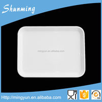 Melamine tray for food serving