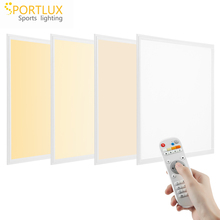 Aluminum frame high quality remote wireless 36W 42W 48W color temperature panel light CCT tunable dimming <strong>flat</strong> panel led light