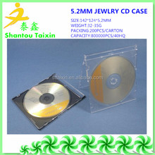 Slim black clear PS Jewel CD Case