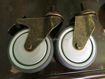 "copper plating 5"" TPR caster brake and swivel available"
