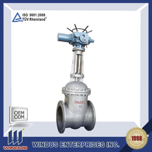 reasonable price durable wcb dn450 pn16 long stem electric actuated gate valve