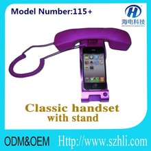 pop handset with stents 115+ corded anti-radiation volume control pop mobile phone handset