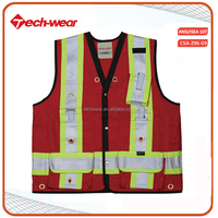 High Visibility 100 cotton Reflecting Safety Vest uniform