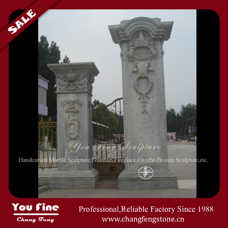 Decorative Outdoor Marble Column