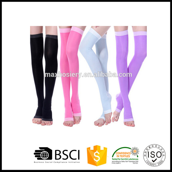Women's Medical Thigh High Overnight Compression Sock 15-20mmHg Stockings