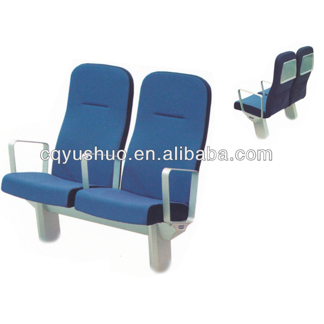 marine/boat/ship double passenger chair seat use fabric and aluminum material