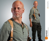 Bruce willis wax figure display in Asain attraction expo 2016 in shanghai
