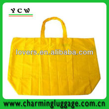 yellow nylon foldable shopping bag