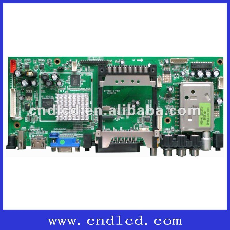 The controller board for digital TV / Analog TV ,support DTV (DVB-T) H.264 format/SCART IN/ OUT/NICAM/Teletxt/SPDIF/HDMI/USB