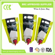 Eco-friendly BIB bag with spout packaging wine bag in box holder