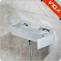 Chrome Wall Deck Mounted Bath Shower Mixer Filler Bathroom Taps