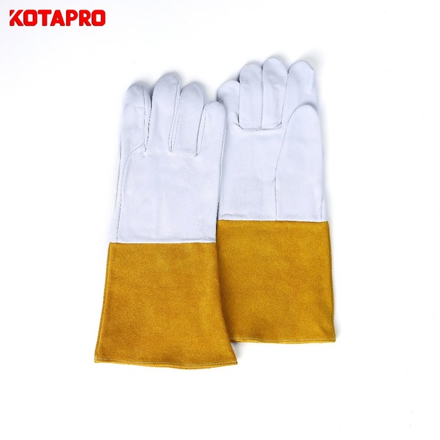 China Wholesale Goats Skin Leather Hand Protective Gloves