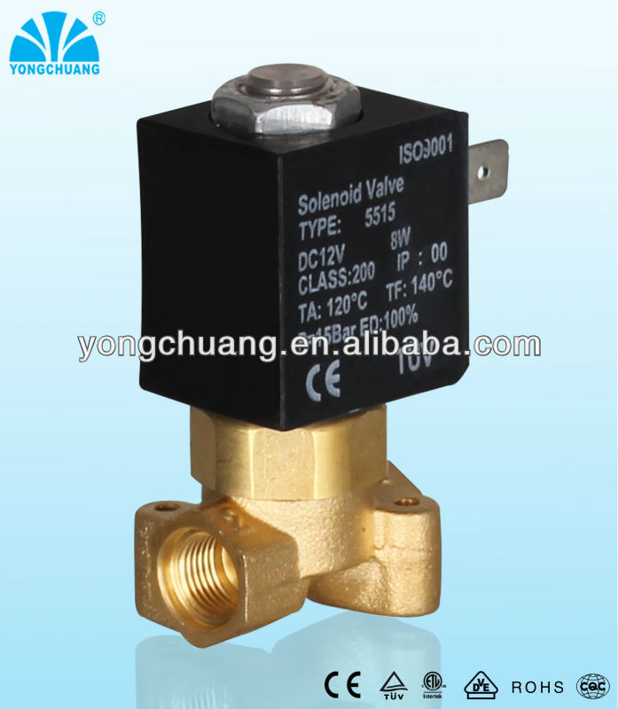 yongchuang 2 way CEME coffee machine brass solenoid valve ac220v