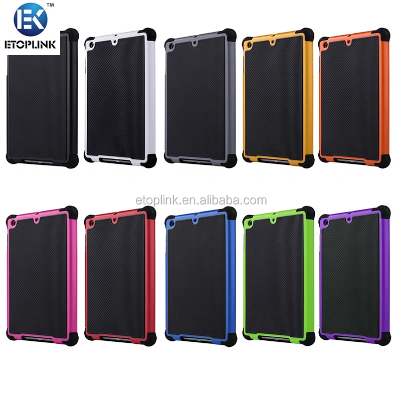 2 in 1 Durable ShockProof Hybrid Heavy Duty Stand Case Cover For Apple iPad Mini 2 3 4 Fashion phone bag 10 Colors Hot sale