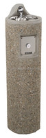 HAWS Pedestal Mount Concrete Drinking Fountain 3060
