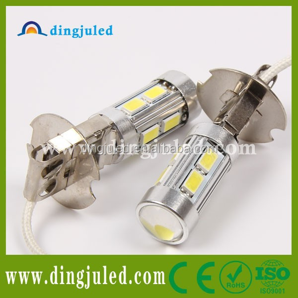 12V Pure White H3 5630 SMD 10 LED Fog Headlight Car Signal Light Bulb Lamp