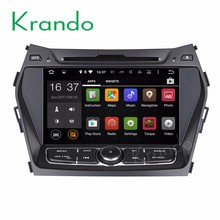 Krando Android 7.1 car navigation dvd player for hyundai ix45 santa fe 2013 2014 2015 + car radio gps WIFI 3G KD-HY845