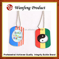 2015 fashionable Custom metalic military dog tags/pet tags factory order produce