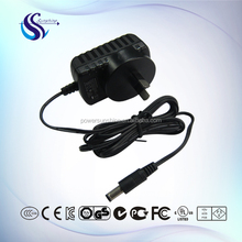 Led driver 12v 1a 12w wall plug-in universal ac dc adapter lcd power supply UK/SAA/UL/EU approved