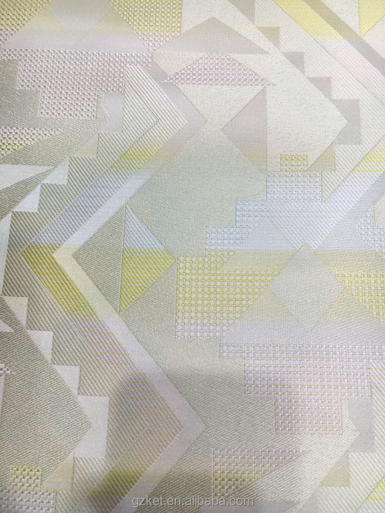 Spring fashion,Geometrical shape pattern 100%polyester woven jacquard fabric
