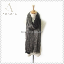 Hot sell fashion women black shimmery lurex viscose long scarf